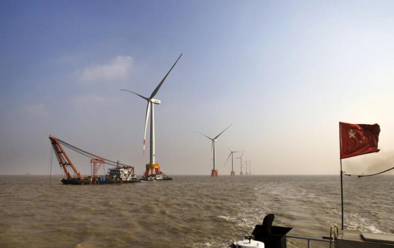 风力发电机轴承在旋转状态下的振动测试